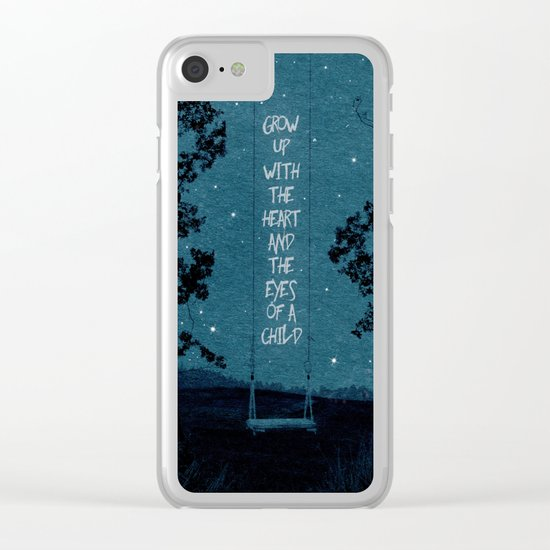 Heart of a Child Clear iPhone Case