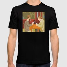 Card players by Cezanne Mens Fitted Tee Black MEDIUM