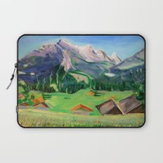 View from Haslital, Switzerland Laptop Sleeve