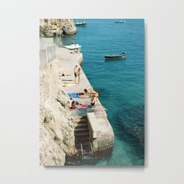Summer is here | Amalfi coast travel photography print | Italy Metal Print