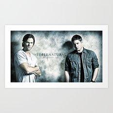Supernatural - Sam & Dean Winchester Art Print