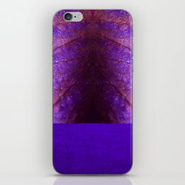 purple pattern with petal texture iPhone Skin