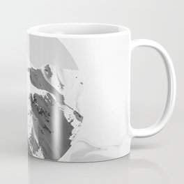 Black White Minimal Design Marble And Mountain Peaks Coffee Mug