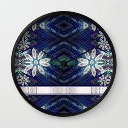 Decorative Daisy Bouquet Mandala Pattern Wall Clock