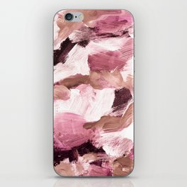 abstract painting VI - coffee and rose iPhone Skin