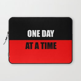 one day at a time inspiration quote Laptop Sleeve