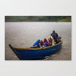 Downpour - Lake Bunyonyi, Uganda Canvas Print