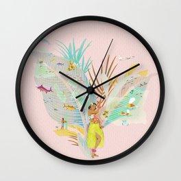 Aloha, Hawaii (Pink) Wall Clock