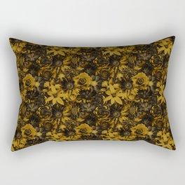 Classic Elegance Golden Flower - Enchanted Flowers Rectangular Pillow