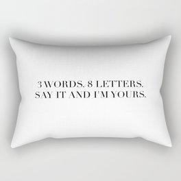 3 WORDS 8 LETTERS Rectangular Pillow