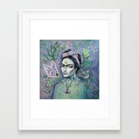 magical girl Framed Art Prints featuring Magical Girl Frida by Brettisagirl