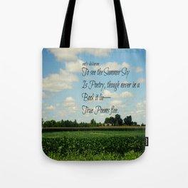 Summer Emily Dickinson Tote Bag