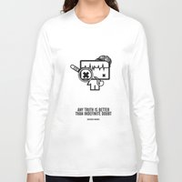 sherlock holmes Long Sleeve T-shirts featuring Sherlock Holmes by the curious brain