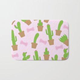 Cute Cacti and Bows Bath Mat