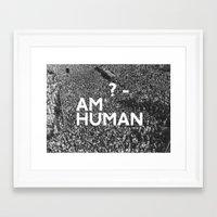 human Framed Art Prints featuring ? Human by WeLoveHumans