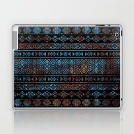 Bronze and Rust Vintage  Aztec Peruvian Tribal Pattern Laptop & iPad Skin