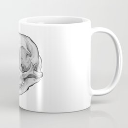 Cat skull in ink Coffee Mug