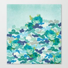 Camoflauge Roses Canvas Print