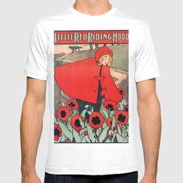 john hassall vintage english poster - Little red riding hood T-shirt