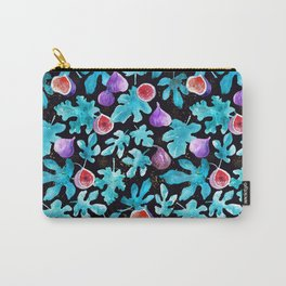 Midnight Sweetness. Dark Botanical Figs and Leaves Carry-All Pouch