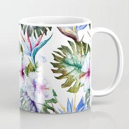 Watercolor Tropical Hibiscus Coffee Mug