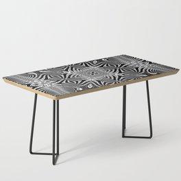Black & White Tribal Symmetry Coffee Table