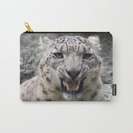 Angry snow leopard Carry-All Pouch