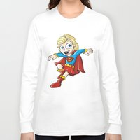 supergirl Long Sleeve T-shirts featuring Supergirl! by neicosta