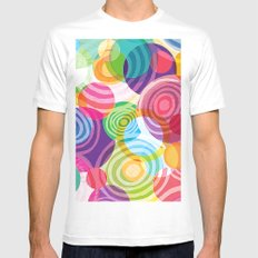 Circle-licious Sweetie White MEDIUM Mens Fitted Tee
