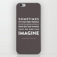 Imagine - Quotable Series iPhone & iPod Skin