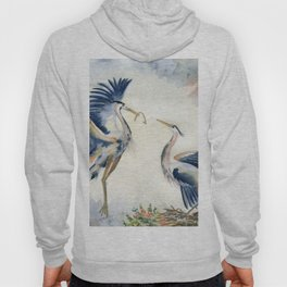 Great Blue Heron Couple Hoody