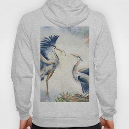 Great Blue Heron Couple Hoody