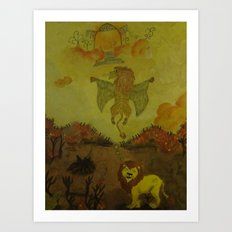 Lion Heaven Art Print