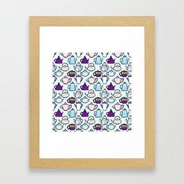 Tea Pot Pattern Framed Art Print