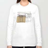 cafe Long Sleeve T-shirts featuring Cafe Roma. by Tayler Willcox