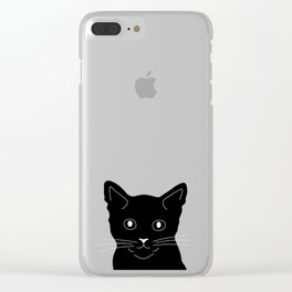 Black Cat Clear iPhone Case