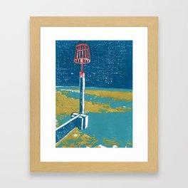 Seaview Fire Beacon in Turquoise Framed Art Print
