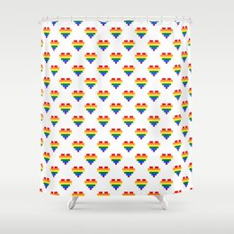 LGBT Heart Shower Curtain