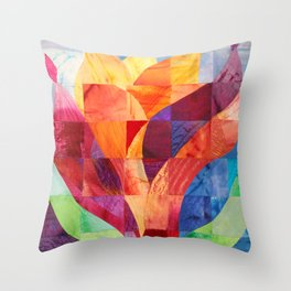 Fire (originally in quilted silk) Throw Pillow