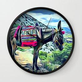 Mexican Burro Wall Clock