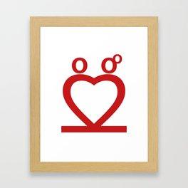Two Love Framed Art Print