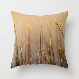 Tall Grass in Camargue Throw Pillow