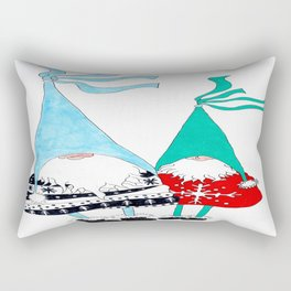 Just two Gnomes, Having a good time. Rectangular Pillow