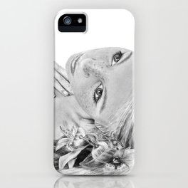 Orchid Flower Girl iPhone Case