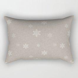 Snow Flakes pattern Beige #homedecor #nurserydecor Rectangular Pillow