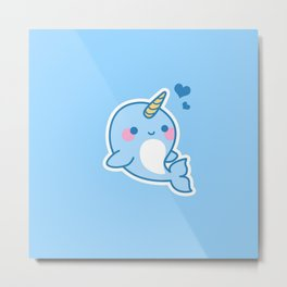 The Unicorn Dolphin Metal Print