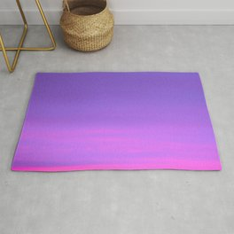 Pink and purple sky a winter morning Rug