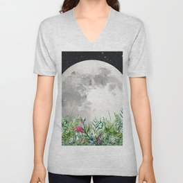 Night Garden Moon Magick Unisex V-Neck