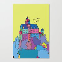 castle in the sky Canvas Prints featuring castle by PINT GRAPHICS