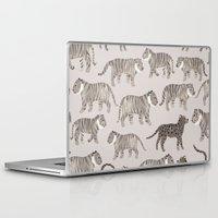 tigers Laptop & iPad Skins featuring Gray Tigers by Sian Keegan